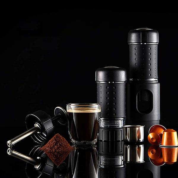 Staresso Portable Espresso Maker Compatible with Nespresso Pods and Ground Coffee