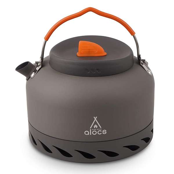 Alocs Camping Kettle With Heat Exchanger