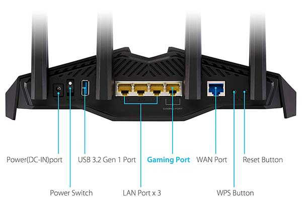 ASUS RT-AX82U AX5400 Dual-Band WiFi 6 Gaming Router with Mesh WiFi Support