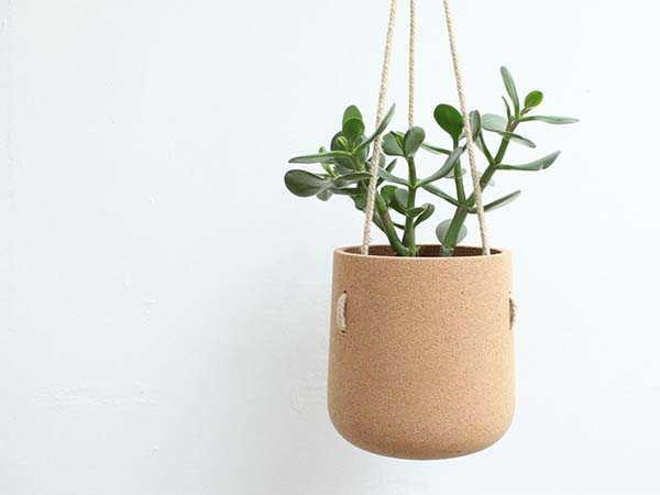 Atlas Handmade Cork Hanging Planter