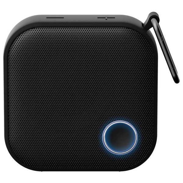 Brookstone Big Blue Go Mini Waterproof Bluetooth Speaker with Carabiner