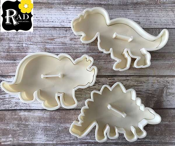 Dinosaur Cookie Cutter Set with Detail Stamps