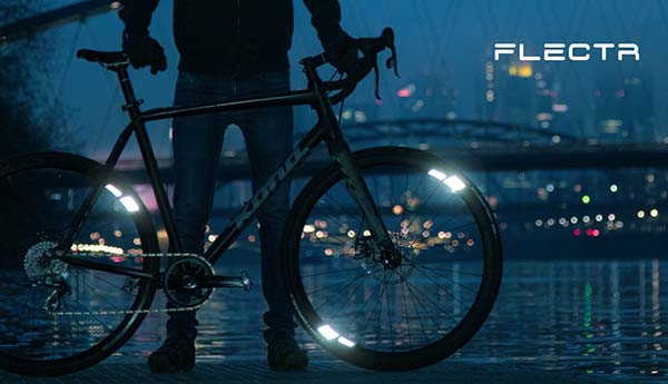 Flectr 360 Omni Bike Wheel Reflector with 360-Degree Visibility