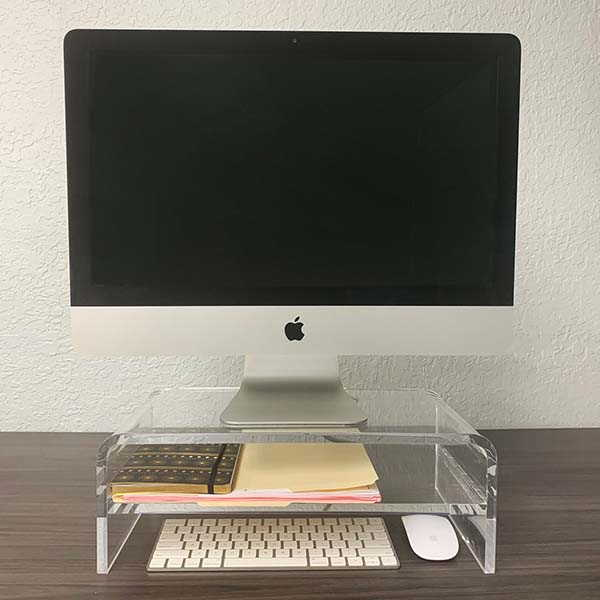 Handmade Acrylic Monitor Stand with 2-Tier Design