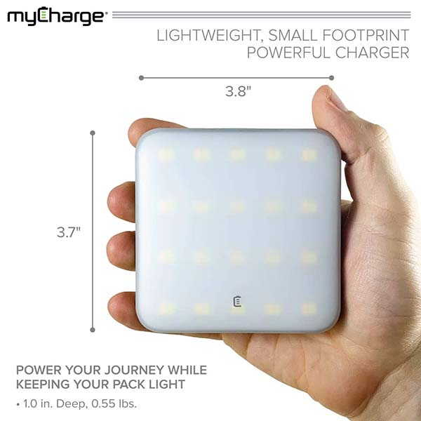 myCharge LED Camping Lantern Doubles as Portable Power Bank