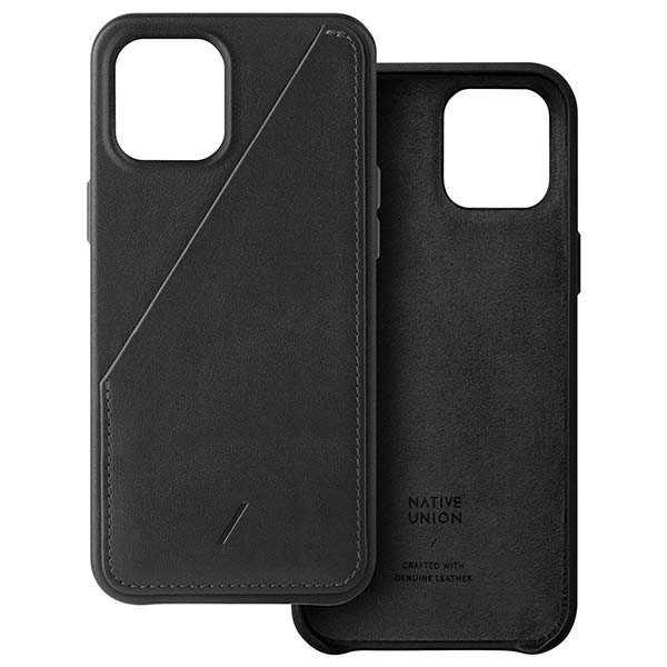 Native Union Clic Card iPhone 12 Leather Case