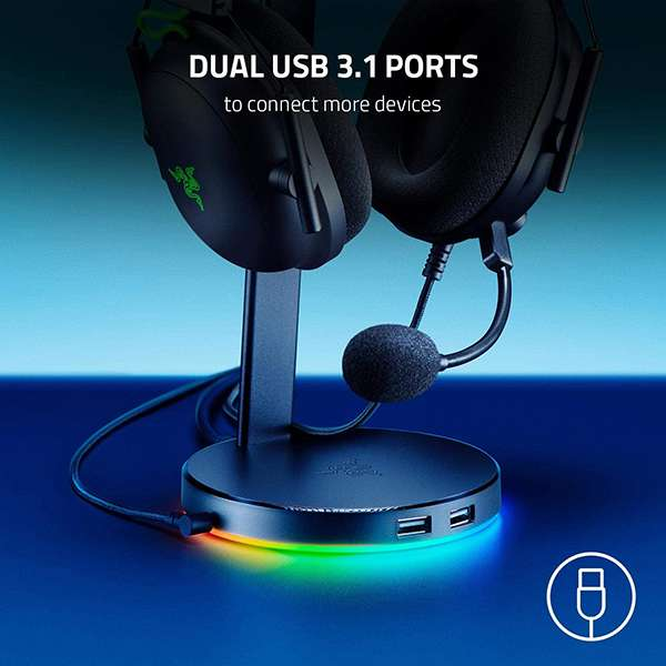 Razer Base Station V2 Gaming Headset Stand with Chroma RGB Lighting