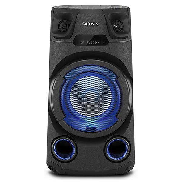 Sony MHC-V13 Bluetooth Party Speaker with CD Player and Multi-Color Lighting