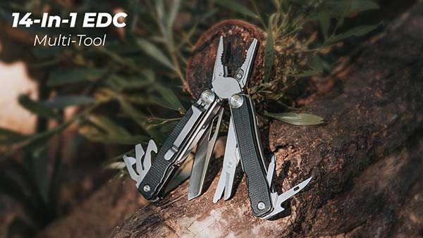 Talos 14-In-1 EDC Multi-Tool for Outdoor Adventures
