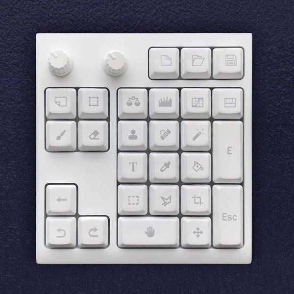 The Mini Keyboard for Photoshop with Two Knobs