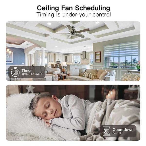Treatlife Smart Ceiling Fan Switch Supoprts Amazon Alexa and Google Assistant