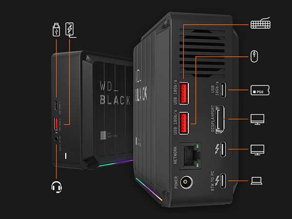 WD_Black D50 Game Dock Thunderbolt 3 Docking Station with Optional NVMe SSD