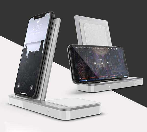 X-Doria Raptic Vertical Duo Wireless Charging Station with USB Port
