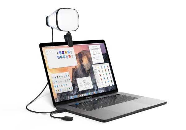 Zumy Portable LED Light Helps You Look Great in Video Meetings