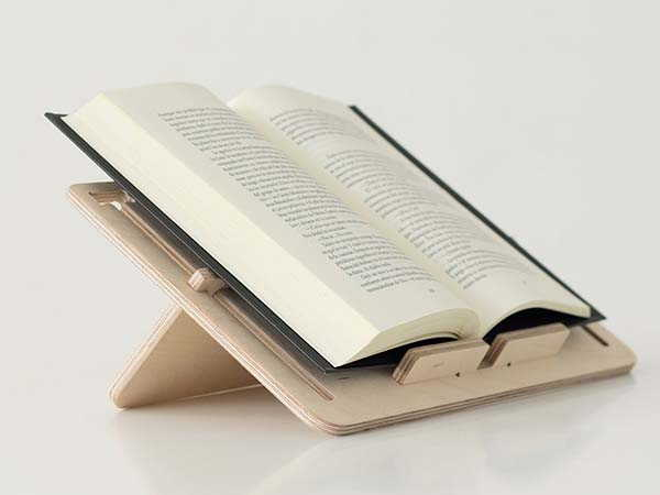 Detablet Handmade Wooden Book and Tablet Stand