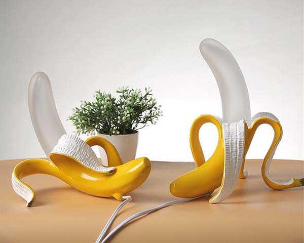 Handmade Banana LED Table Lamp