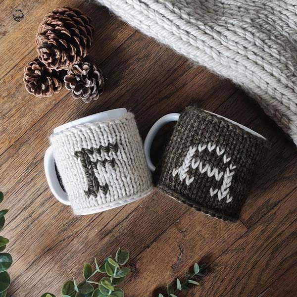 Handmade Customizable Knitted Wool Cup Warmer
