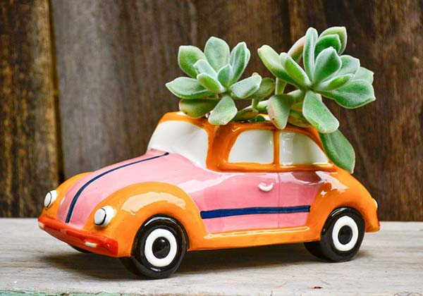 Handmade Retro Vehicle Ceramic Planters
