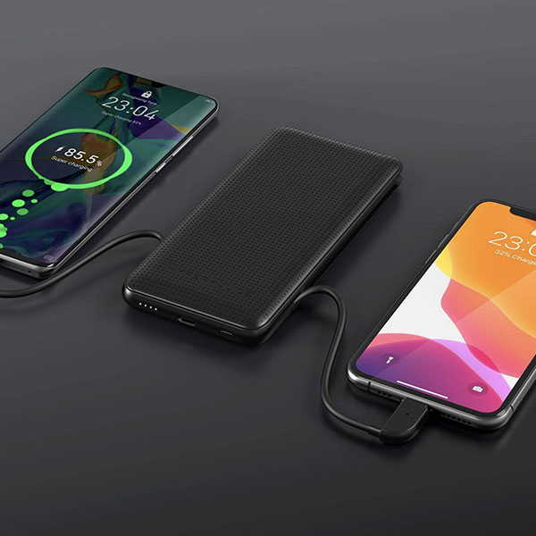 HyperJuice 18W Portable Power Bank with Charging Cables