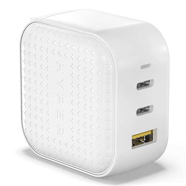 HyperJuice 66W GaN USB-C Charger with 3 Ports