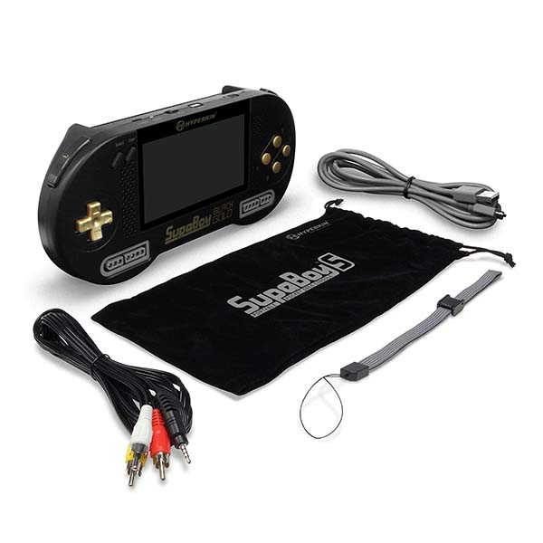 Hyperkin SupaBoy Blackgold Portable Game Console for SNES and Super Famicom