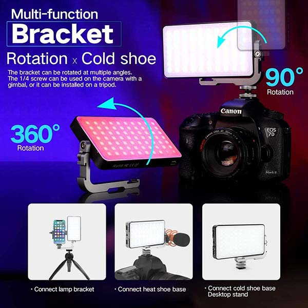 IVISII G2 Portable RGB LED Light Panel for Photography, Studio and More