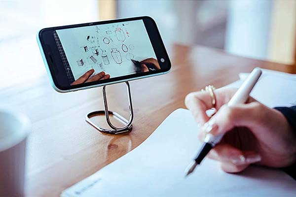 Mindsky Foldable Phone Grip Doubles as a Phone Stand