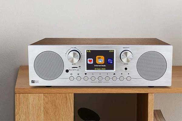 Ocean Digital WR-800D WiFi Internet Radio with Bluetooth and Dual Alarm Clock