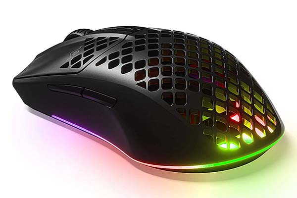 SteelSeries Aerox 3 Lightweight Wireless Gaming Mouse with TrueMove Air Optical Sensor