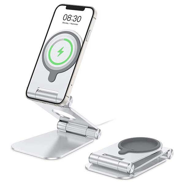 The Aluminum iPhone Stand Works with MagSafe Charger