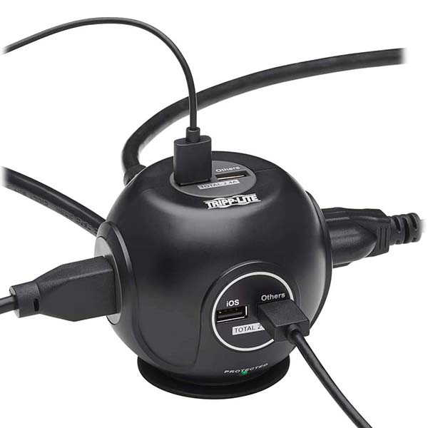 Tripp Lite Spherical Surge Protector with 4 USB Ports