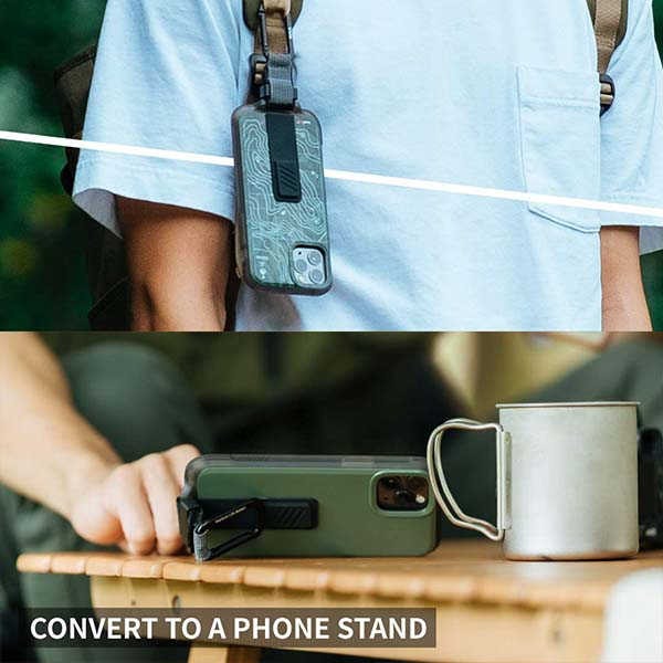Bitplay Wander iPhone 12 Case with Multi-Use Carabiner