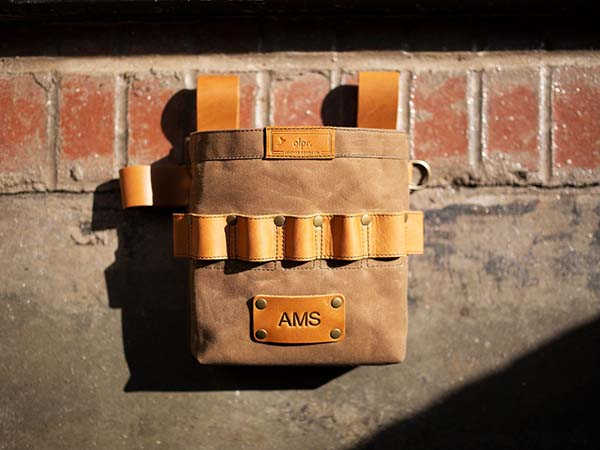Handmade Canvas and Leather Tool Belt Bag with Optonal Personalization