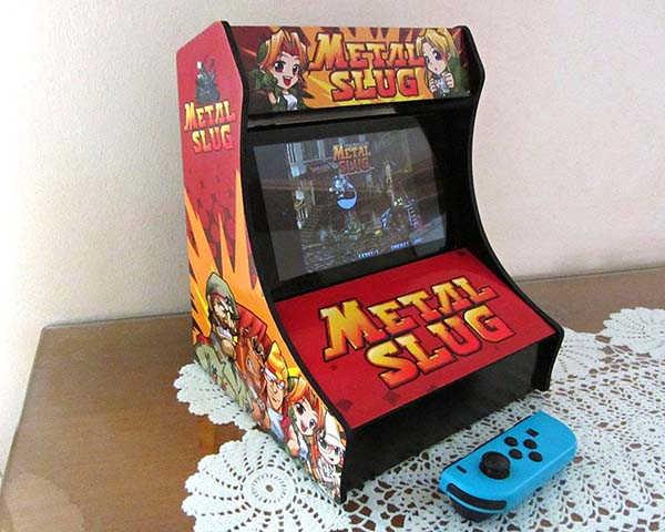 Handmade Nintendo Switch Arcade Cabinet with Optional Retro Game Decors