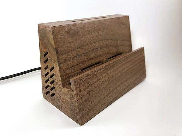 Handmade Wooden Nintendo Switch Dock with USB-C Extender