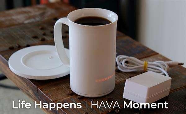 HAVA Self-Heating Smart Mug with Charging Coaster