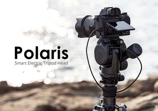 Polaris Smart Electric Tripod Head with WiFi and Bluetooth 5.1 Connectivity