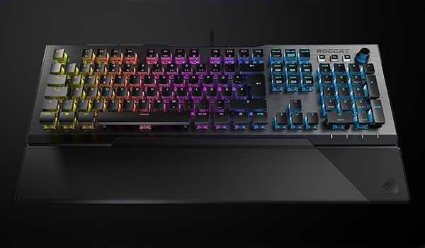 Roccat Vulcan 120 AIMO RGB Mechanical Gaming Keyboard with Detachable Palm Rest
