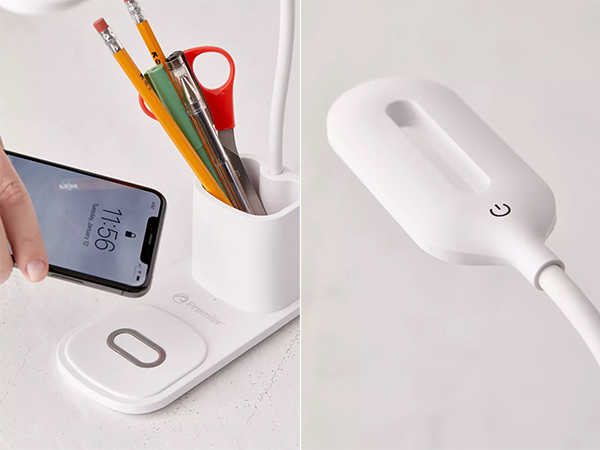 The Premier LED Desk Lamp with Wireless Charger and Pen Holder