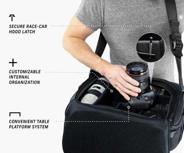 The Top Shelf Camera Bag Lets You Instantly Access Your Gear
