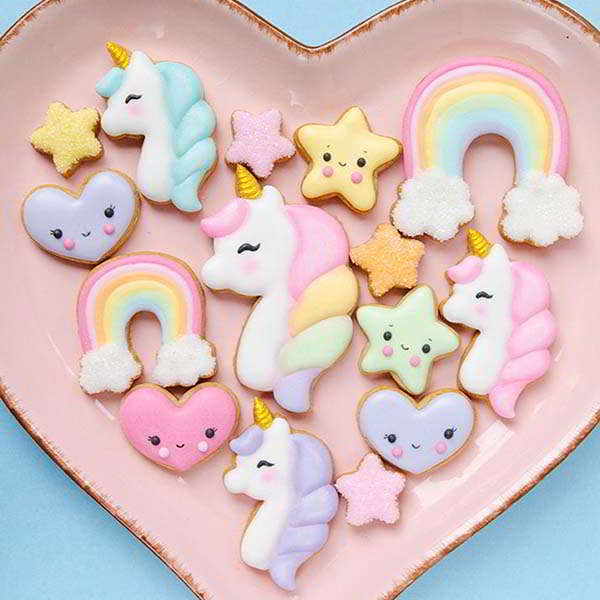 3D Printed Unicorn Cookie Cutter Set