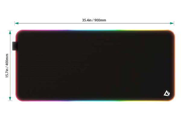 Aukey RGB Gaming Mouse Pad with 11 LED Lighting Effects