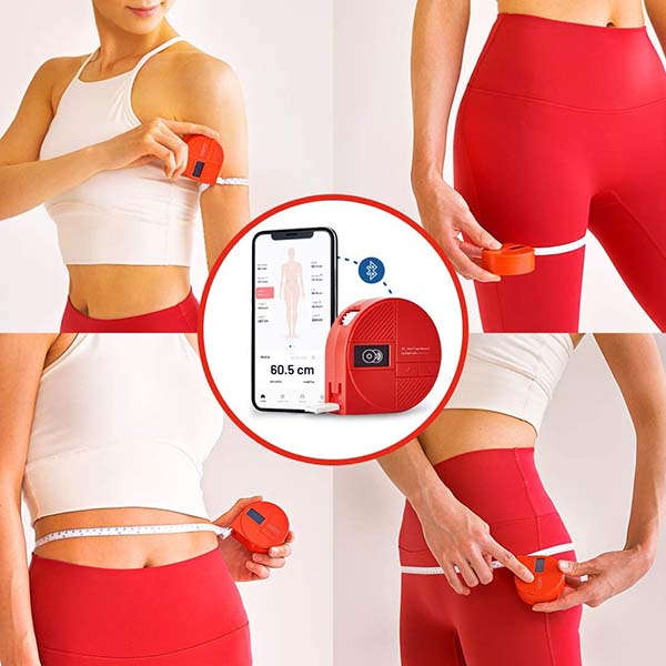 Bagel Pie Smart Tape Measure for Weight Loss, Muscle Gain, and Fitness
