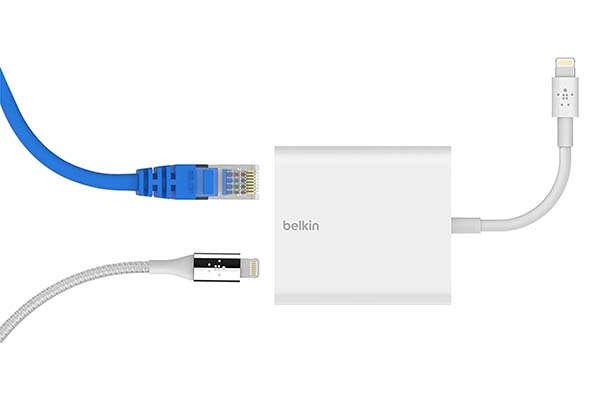 Belkin Lightning Ethernet Adapter with Lightning Port