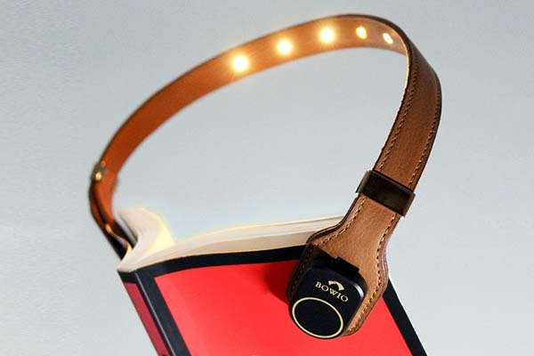 Bowio Leather LED Book Light for Comfort and Style