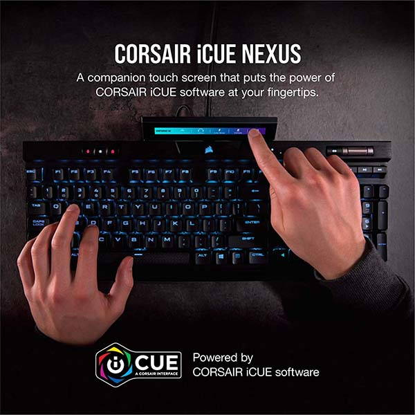 Corsair iCUE Nexus Companion Touch Screen with 6 Programmable Virtual Macro Buttons