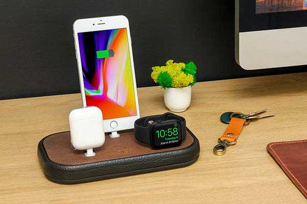 Handmade 3-In-1 Charging Dock for iPhone, Apple Watch and AirPods