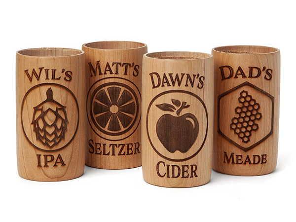 Handmade Customizable Wooden Drink Chiller