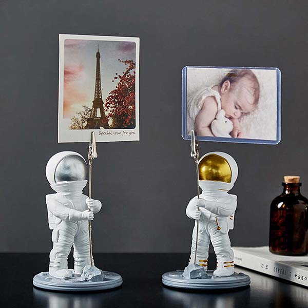 The Handmade Photo Holder with Astronaut Figurine