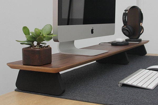 Handmade Wooden Monitor Stand with Personalization
